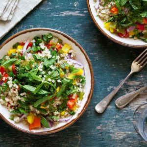 Quinoa Salad With Cumin Lime Dressing